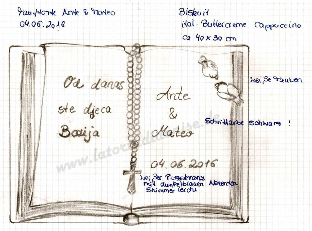 Ein Buch zur Taufe von Ante und Mateo