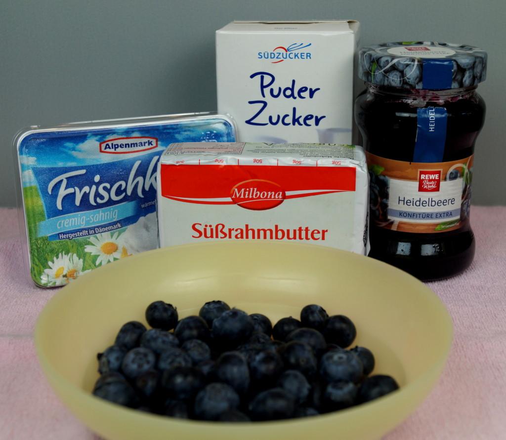 Amerikanische Blueberry Cupcakes