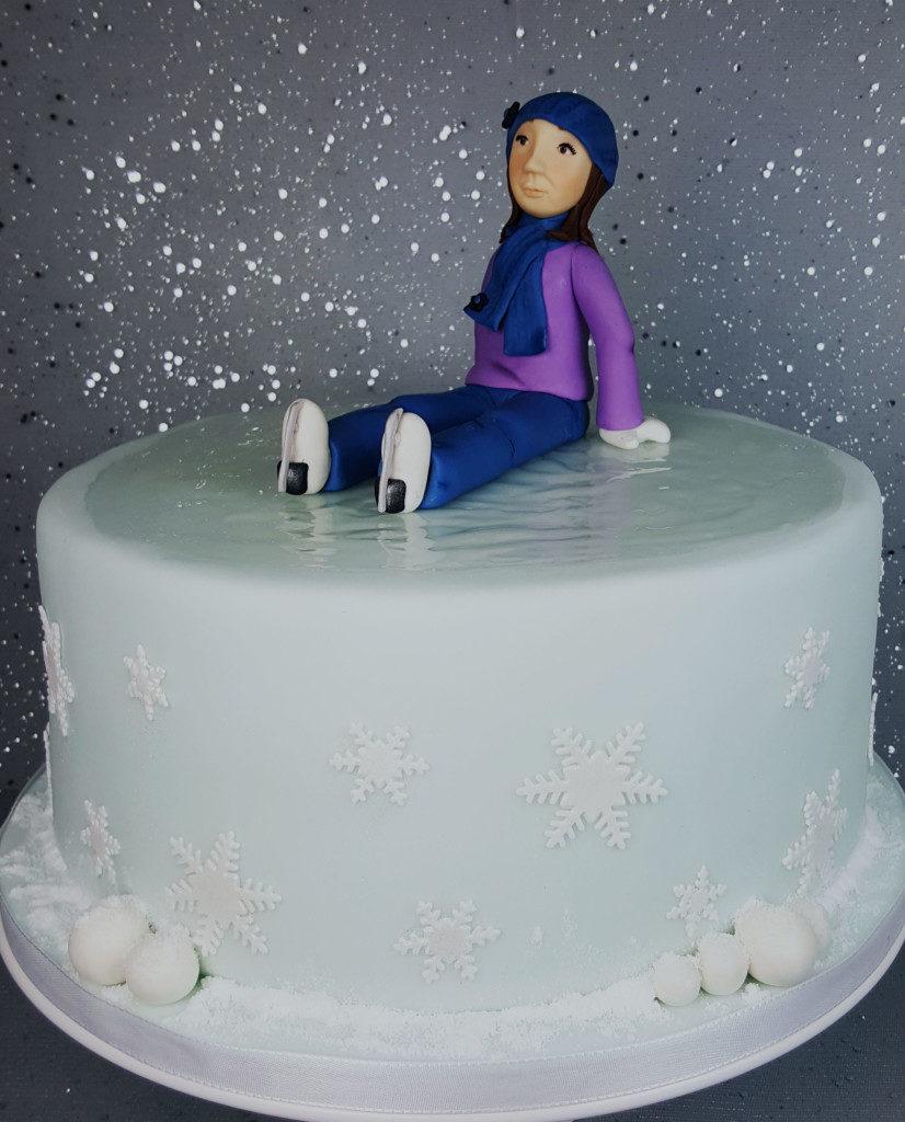Die Eislauf-Torte