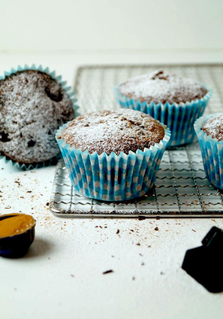 Schoko - Muffins mit Sauerkirschen