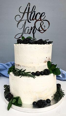 Naked Cake-Hochzeitstorte; Fondant war gestern
